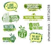 set of logos  stamps  badges ... | Shutterstock . vector #383716258