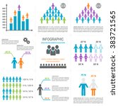vector infographic people icons ... | Shutterstock .eps vector #383721565