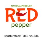 red logo with word red pepper... | Shutterstock .eps vector #383723636