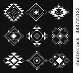 tribal geometric elements... | Shutterstock .eps vector #383725132