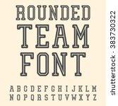 vintage font. slab serif retro... | Shutterstock .eps vector #383730322
