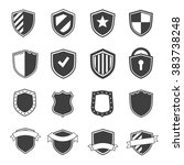 set of security icons black... | Shutterstock .eps vector #383738248