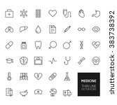 medicine outline icons for web... | Shutterstock . vector #383738392