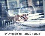business concept. businessman... | Shutterstock . vector #383741836