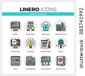 line icons set of online... | Shutterstock .eps vector #383741992