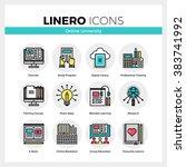 line icons set of online...   Shutterstock .eps vector #383741992