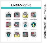 line icons set of online... | Shutterstock .eps vector #383742016