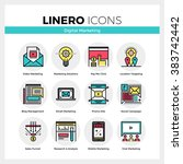 line icons set of digital... | Shutterstock .eps vector #383742442