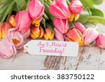 on march 8 is women's day  | Shutterstock . vector #383750122