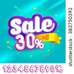 sale banner design. vector... | Shutterstock .eps vector #383750392