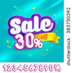 sale banner design. vector... | Shutterstock .eps vector #383750392