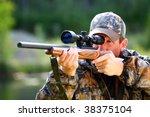 hunting moose   Shutterstock . vector #38375104