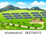 a vector illustration of wind... | Shutterstock .eps vector #383756572