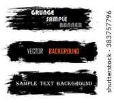 Set Of Three Black Grunge...