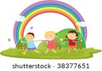 illustration of kids on white | Shutterstock .eps vector #38377651