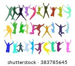 hurray team victory is ours  | Shutterstock .eps vector #383785645