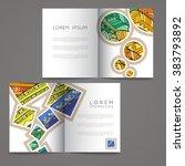set of vector design templates. ... | Shutterstock .eps vector #383793892