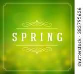 spring vector typographic... | Shutterstock .eps vector #383795626