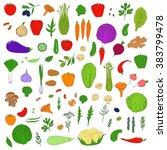 set of healthy vegetarian food. ... | Shutterstock . vector #383799478