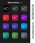 quit smoking icons set for icon ...