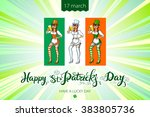 st. patrick's day typographic ... | Shutterstock .eps vector #383805736