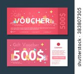 set of gift voucher to women.... | Shutterstock .eps vector #383807305