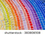 colorful mosaic flooring or... | Shutterstock . vector #383808508