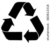 universal recycling symbol  ... | Shutterstock .eps vector #383812318