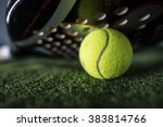 paddle tennis macro wide angle... | Shutterstock . vector #383814766