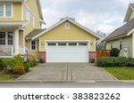 garage door in vancouver ... | Shutterstock . vector #383823262
