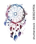 indian dreamcatcher made of... | Shutterstock . vector #383824906