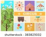 abstract circus card . vector... | Shutterstock .eps vector #383825032