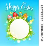 sunny easter background with... | Shutterstock .eps vector #383831395