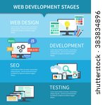 vector flat set of concept web... | Shutterstock .eps vector #383834896