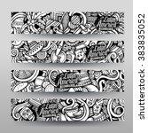 graphics vector hand drawn... | Shutterstock .eps vector #383835052
