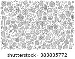 sketchy vector hand drawn... | Shutterstock .eps vector #383835772