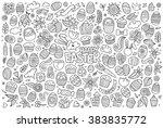 sketchy vector hand drawn... | Shutterstock .eps vector #383835772