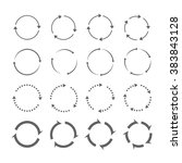 set of grey circle vector... | Shutterstock .eps vector #383843128