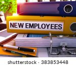 yellow office folder with... | Shutterstock . vector #383853448