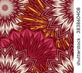 seamless floral background.... | Shutterstock .eps vector #383860408