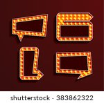 set of vintage bilboards with... | Shutterstock .eps vector #383862322