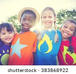 children friendship bonding... | Shutterstock . vector #383868922