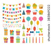 set of birthday party design... | Shutterstock .eps vector #383869222
