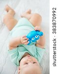 baby playing and discovery | Shutterstock . vector #383870992