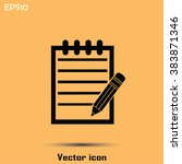 pictograph of note | Shutterstock .eps vector #383871346