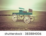 Vintage Of Ancient Cart On A...