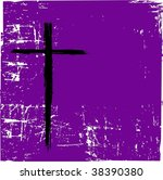 Vector Cross On Purple Grunge