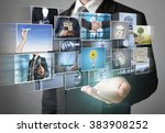 reaching images streaming ... | Shutterstock . vector #383908252
