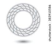 round braided mesh frame ...   Shutterstock .eps vector #383910586
