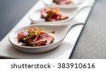 tuna tataki is a japanese dish... | Shutterstock . vector #383910616